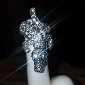 Jewelry - Alligator Lizzard Stretchy Silver Ring